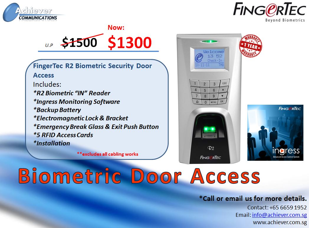 Biometric Door Access Promo