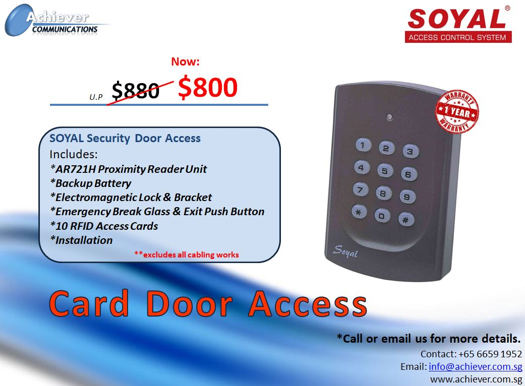 Card Door Access Promo