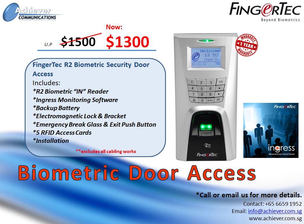 Biometric Door Access Promo